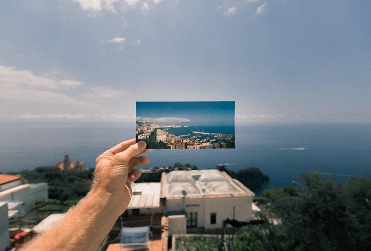 Postal sobre paisaje