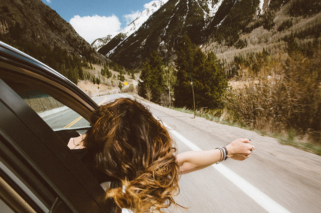 viajando en auto
